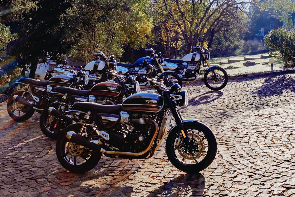 Triumphs Media Launch Of Their New 1200 Twins Za Bikers